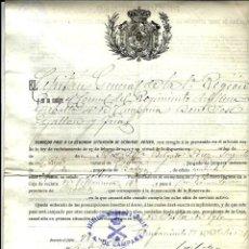 Militaria: DOCUMENTO -EL CAPITAN DE LA 1ª REGION DEL RGTO.DE ARTILLERIA DA PASE DE SERVICIO ACTIVO -1911. Lote 98780171