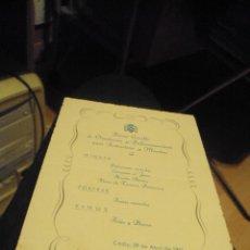 Militaria: MENU DEL PRIMER CURSILLO DE ORIENTACION PARA LA INSTRUCCIONES DE MAESTROS 1951 FALANGE. Lote 98899487