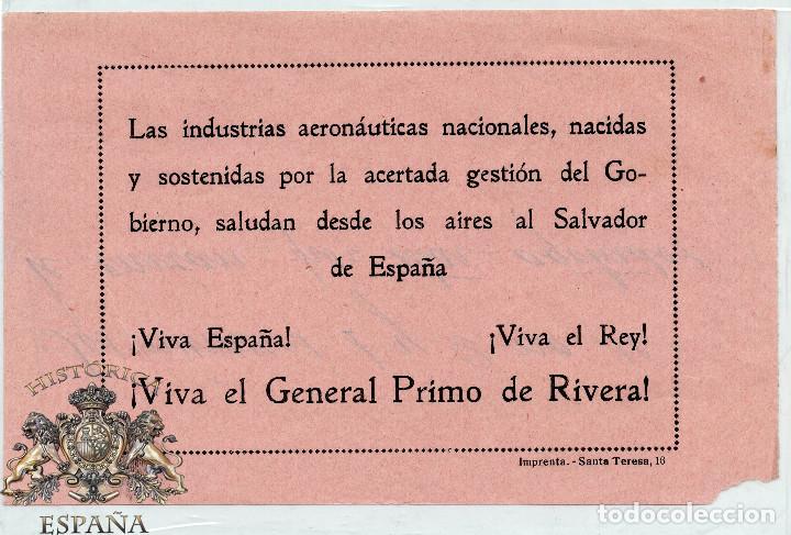 OCTAVILLA LAS INDUSTRIAS AERONÁUTICA NACIONALES - AVIACIÓN - GENERAL PRIMO DE RIVERA (Militar - Propaganda y Documentos)