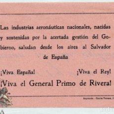 Militaria: OCTAVILLA LAS INDUSTRIAS AERONÁUTICA NACIONALES - AVIACIÓN - GENERAL PRIMO DE RIVERA. Lote 98973899