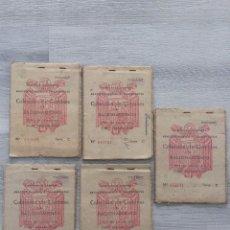 Militaria: 5 CARTILLAS DE RACIONAMIENTO POSGUERRA. Lote 99064107