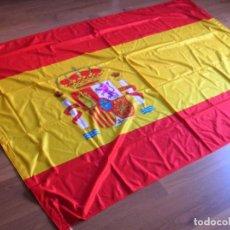 Militaria: GRAN BANDERA DE ESPAÑA. EXCEPCIONAL CALIDAD. REFUERZOS BORDADOS. ANILLAS DE IZADO.. Lote 99524559