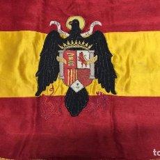 Militaria: BANDERA MILITAR BORDADA A MANO. Lote 104820614
