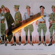 Militaria: ANTIGUA LAMINA MILITAR LEGION LEGIONARIO LEGIONARIOS ESPAÑOLES ESPAÑOLA ESPAÑA MILITARES BANDERAS. Lote 100210983