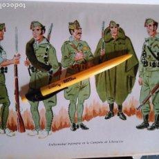 Militaria: ANTIGUA LAMINA MILITAR LEGION LEGIONARIO LEGIONARIOS ESPAÑOLES ESPAÑOLA ESPAÑA MILITARES UNIFORME -. Lote 100211075