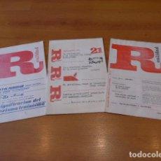Militaria: LOTE ANTIGUO 3 REVISTA, DE TRANSICION POLITICA. COMUNISTA, EXTREMA IZQUIERDA, REALIDAD. Lote 100389587