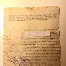 Militaria: DOCUMENTO MILITAR SEGUNDA GUERRA. Lote 100874403