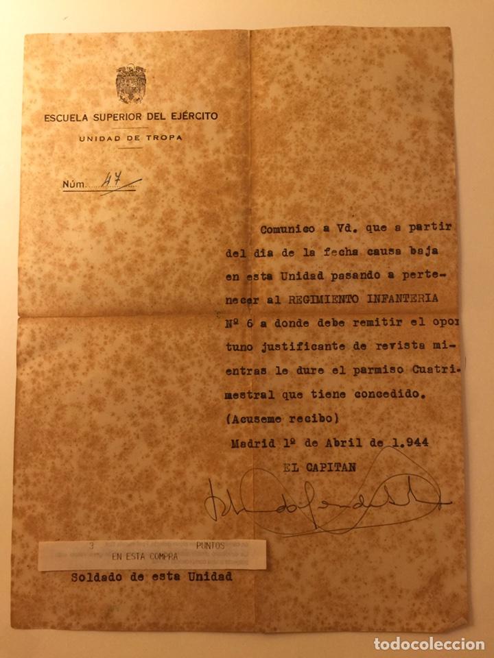 DOCUMENTO MILITAR (Militar - Propaganda y Documentos)