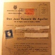 Militaria: DOCUMENTO MILITAR AÑO 1940. Lote 100884538