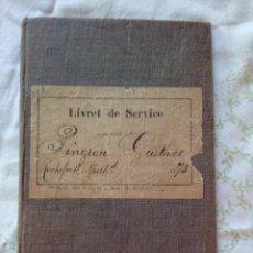 Militaria: LIBRETA DE SERVICIO MILITAR. INFANTERÍA NEUCHATEL SUISSE. 1894. Lote 101156203