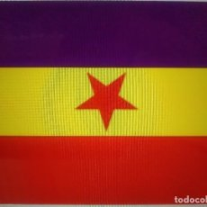 Militaria: BANDERA ESPAÑA REPUBLICA ESTRELLA ROJA 100X70. Lote 101703906