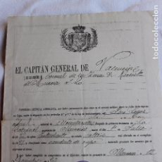 Militaria: LICENCIA ABSOLUTA POR EXCEDENTE DE CUPO, ALCANTARILLA, MURCIA 1903. Lote 101838219