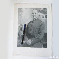 Militaria: CARTEL O LÁMINA ORIGINAL DEL GENERAL QUEIPO DE LLANO. JEFE DEL EJERCITO DEL SUR. HERALDO DE ARAGÓN. Lote 102039639