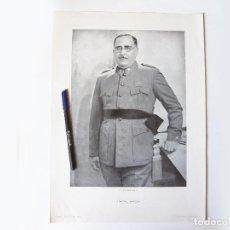 Militaria: CARTEL O LÁMINA ORIGINAL DEL GENERAL ARANDA. IMPRENTA DEL HERALDO DE ARAGÓN. Lote 102039723