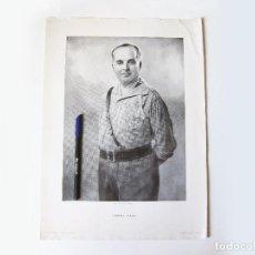 Militaria: CARTEL O LÁMINA ORIGINAL DEL GENERAL VARELA. IMPRENTA DEL HERALDO DE ARAGÓN. ZARAGOZA. Lote 102039843