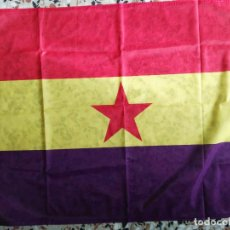 Militaria: BANDERA REPUBLICANA CON ESTRELLA DE 100 X 70 CM. Lote 102165863