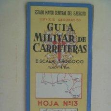 Militaria: GUIA MILITAR DE CARRETERAS Nº 13 : CADIZ, SEVILLA, HUELVA , GIBRALTAR. ETC. Lote 102222943