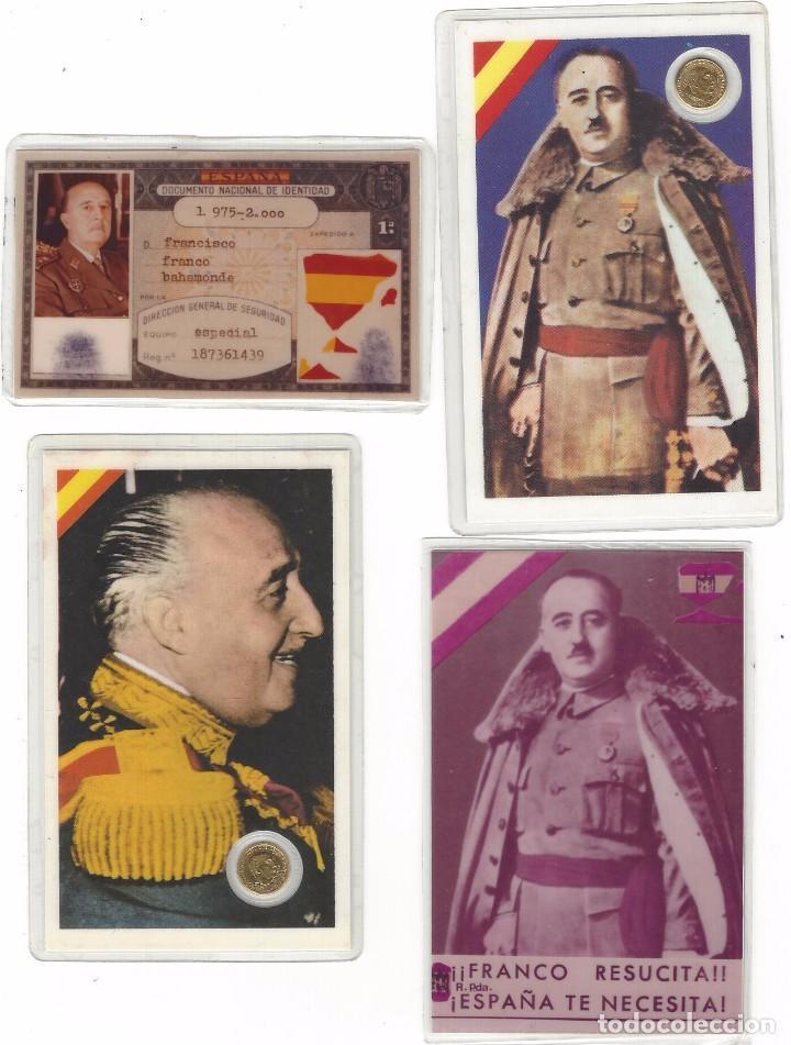 DOCUMENTOS VARIOS DE FRANCO PLASTIFICADOS (Militar - Propaganda y Documentos)