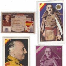 Militaria: DOCUMENTOS VARIOS DE FRANCO PLASTIFICADOS. Lote 102446587