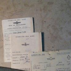 Militaria: DOCUMENTOS EJÉRCITO DEL AIRE, 1950. Lote 102644787