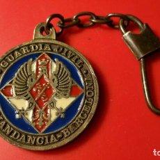 Militaria: LLAVERO GUARDIA CIVIL 411 COMANDANCIA BARCELONA - LL16. Lote 102723275