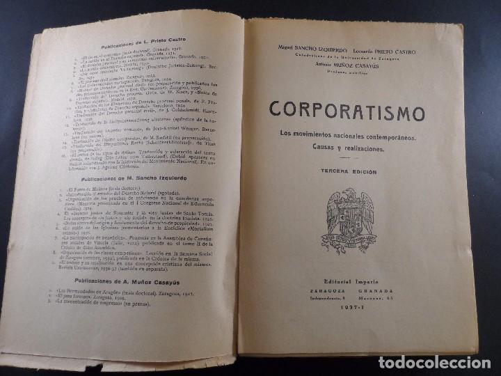 Militaria: CORPORATISMO. M, SANCHO IZQUIERDO....ETC,EDITORIAL IMPERIO. ZARAGOZA- GRANADA 1937 - Foto 2 - 103708995