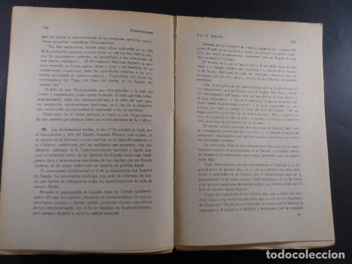 Militaria: CORPORATISMO. M, SANCHO IZQUIERDO....ETC,EDITORIAL IMPERIO. ZARAGOZA- GRANADA 1937 - Foto 4 - 103708995