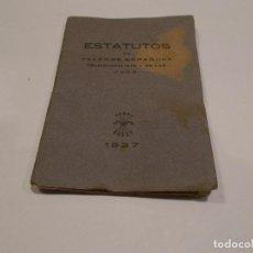 Militaria: ESTATUTOS DE FALANGE ESPAÑOLA TRADICIONALISTA Y DE LAS J.O.N.S 1937. Lote 104303439