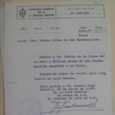 Militaria: CAPITANIA GENERAL 2ª REGION: PLACA ORDEN SAN HERMENEGILDO A TENIENTE CORONEL . ALMERIA, 19681. Lote 104814287