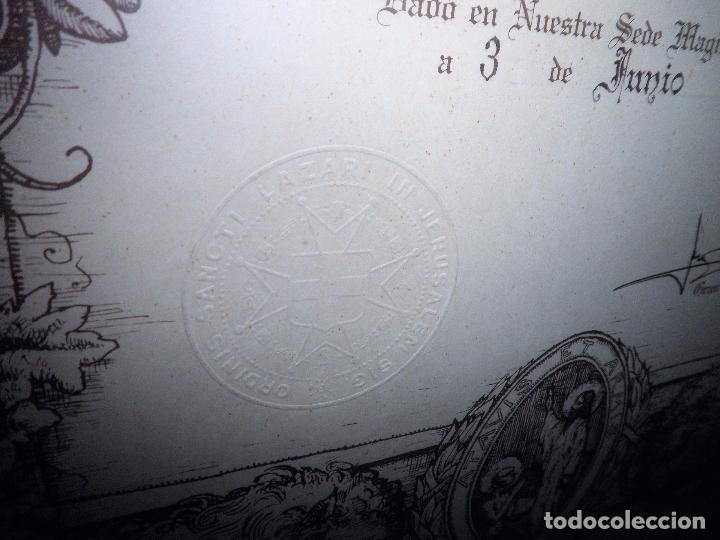 Militaria: MAESTRE DE LA ORDEN MILITAR DE SAN LAZARO DE JERUSALEN - F.ENRIQUE DE BORBÓN Y DE BORBÓN. - Foto 7 - 104815807
