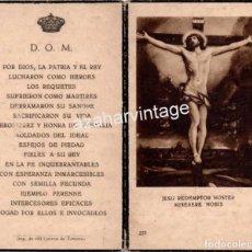 Militaria: CARLISMO, ZAMORA, RECUERDO ACTOS ANTIGUA COMUNION TRADICIONALISTA, RARO. Lote 104978839