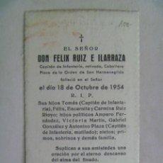 Militaria: RECORDATORIO DE LA MUERTE DE CAPITAN DE INFANTERIA , CABALLERO SAN HERMENEGILDO . 1954. Lote 105455559