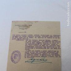 Militaria: EJERCITO DEL SUR, AUDITORIA DE GUERRA, 25 AGOSTO 1939, HUERCAL OVERA. Lote 106085631