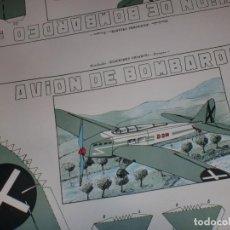 Militaria: RECORTABLE PRO CONTIENDA - PIEZA DE COLECCIONISTA - AVIÓN DE BOMBARDEO - AÑOS '40 - '50. Lote 106666759