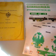 Militaria: CARPETA PARA LÁMINAS DIRECCIÓN ENSEÑANZA. ARMAMENTO EMBLEMAS Y DIVISAS DEL EJÉRCITO ESPAÑOL. 460 GR. Lote 106716119