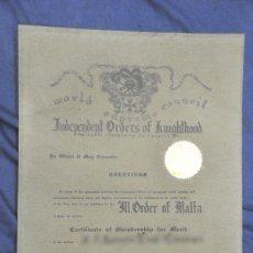 Militaria: CONCESIÓN DEL TÍTULO DE CABALLERO COMENDADOR DE LA ORDEN DE MALTA. 1972.. Lote 106933427