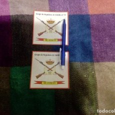 Militaria: 2 PEGATINAS DE GRUPO DE REGULARES DE MELILLA 52. Lote 107858651