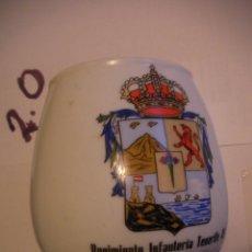 Militaria: ANTIGUA JARRA REGIMIENTO DE INFANTERIA Nº 49. Lote 108321391