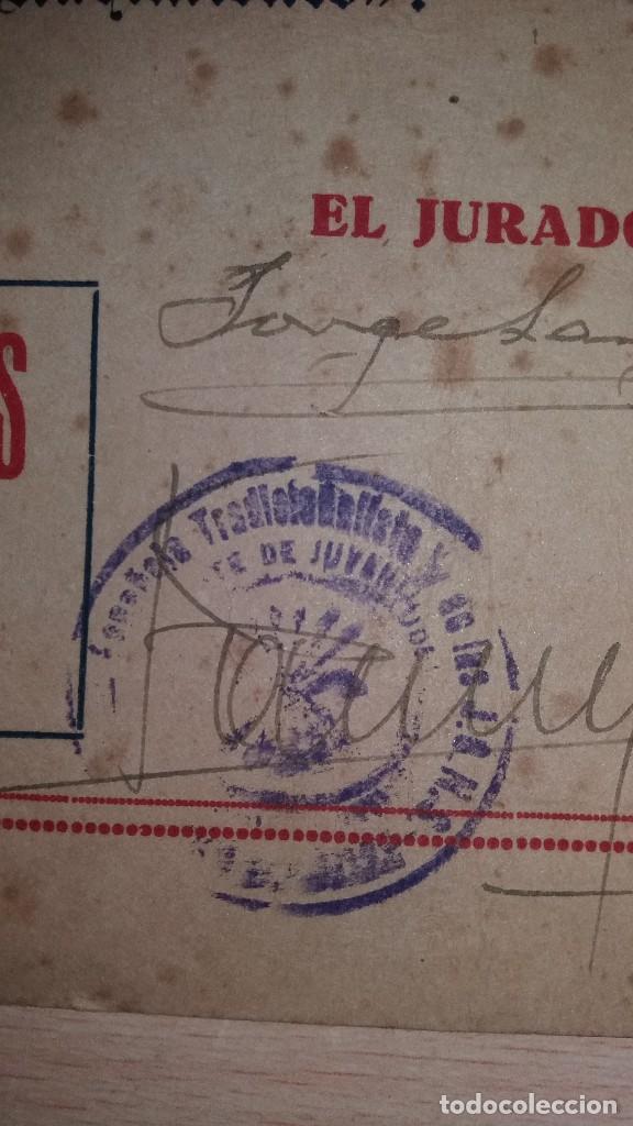 Militaria: DIPLOMA FRENTE DE JUVENTUDES DE BADAJOZ, CONCURSO DE NACIMIENTOS, AÑO 1947 - Foto 3 - 108463163