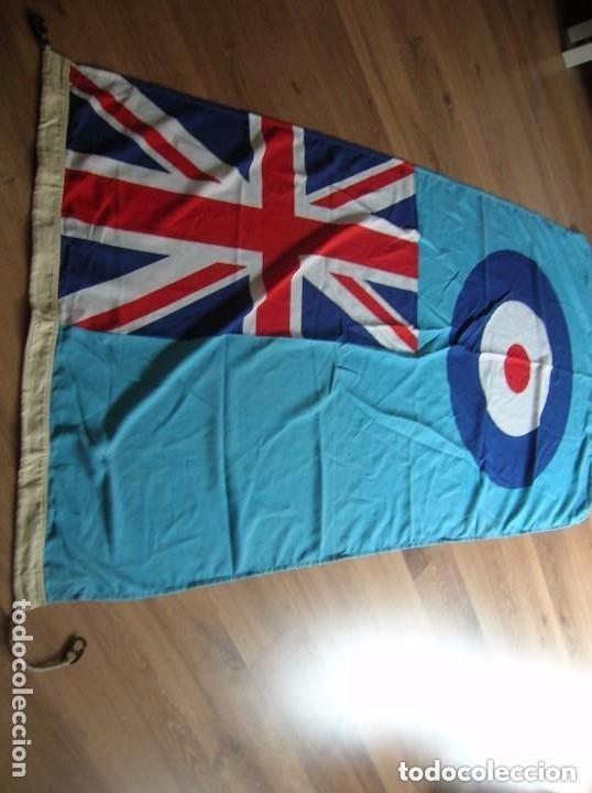 Militaria: GRAN BANDERA BRITANICA PARA BASE AEREA DE LA RAF. ORIGINAL 100%. CON MARCAJES. AÑO 1991. - Foto 2 - 109064115