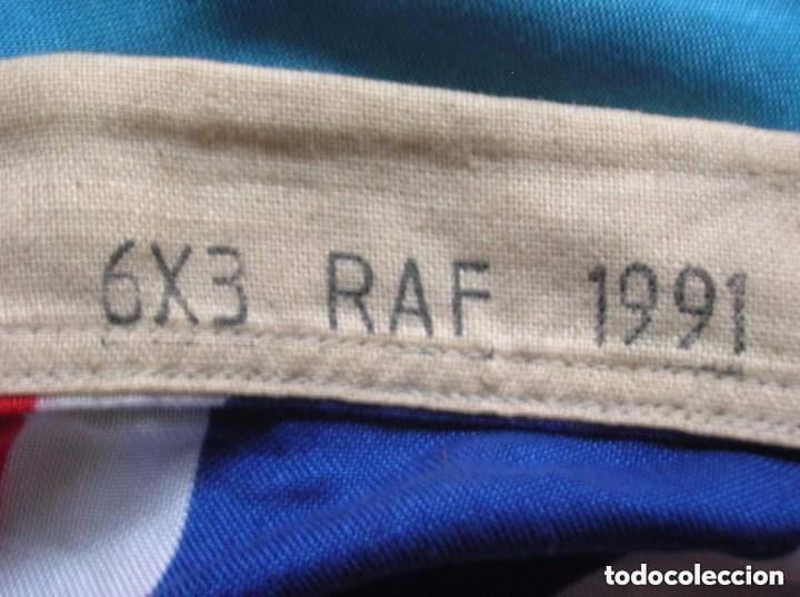 Militaria: GRAN BANDERA BRITANICA PARA BASE AEREA DE LA RAF. ORIGINAL 100%. CON MARCAJES. AÑO 1991. - Foto 3 - 109064115