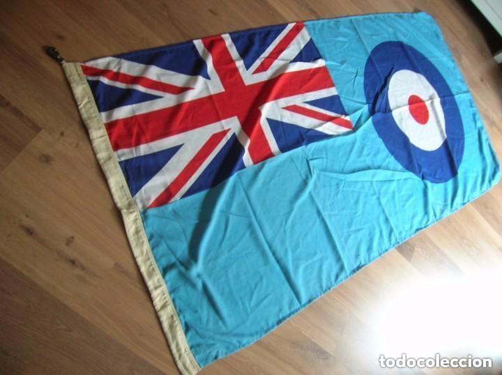 Militaria: GRAN BANDERA BRITANICA PARA BASE AEREA DE LA RAF. ORIGINAL 100%. CON MARCAJES. AÑO 1991. - Foto 5 - 109064115