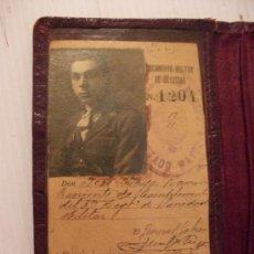 Militaria: CARTERA DE IDENTIDAD Y CARNET DE TENIENTE DE SANIDAD MILITAR, 1925 . EPOCA ALFONSO XIII. Lote 109111627