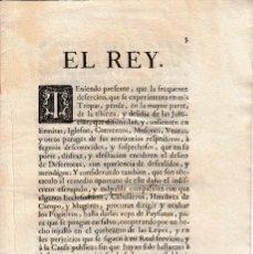 Militaria: 1754 REAL DECRETO DE FERNANDO VI SOBRE REGLAS PARA PERSEGUIR A DESERTORES DEL EJERCITO. Lote 109446135