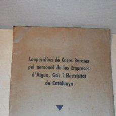Militaria: BARCELONA 1936 -COOPERATIVA DE CASES BARATES PEL PERSONAL DE LES EMPRESES D'AIGUA , GAS I ELECTRICIT. Lote 109471223