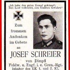 Militaria: ORIGINAL - STERBEBILDER WW2 - RECORDATORIO - PROPIETARIO EK 1 Y EK 2 -CRUZ DE HIERRO-. GRANADEROS. Lote 109482871