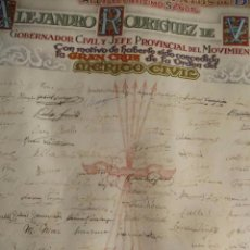 Militaria: CONCESION GRAN CRUZ DE LA ORDEN AL MERITO CIVIL. MUY ALTO POLITICO FRANQUISTA. MOVIMIENTO BALEARES.. Lote 109696743