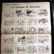 Militaria: LA CAMPAÑA DE MARRUECOS - HISTORIAS GRÁFICAS DEP 48X35CM. Lote 191406155