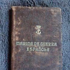 Militaria: CARNET MARINA GUERRA ESPAÑOLA CADIZ. Lote 110799647