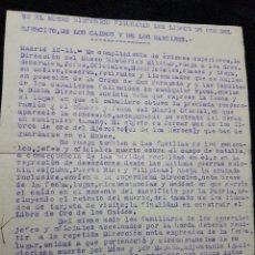 Militaria - Documento museo historico militar peticion a familiares de Laureada de San Fernando - 110829651